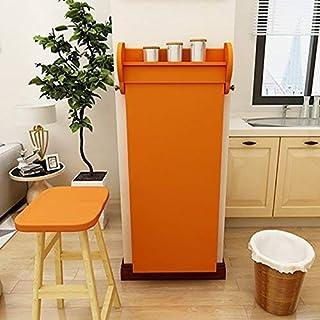 MJY Table de bar créative Table de salon Barre de table simple Table de salle à manger pliante créative Utilisation,Orange