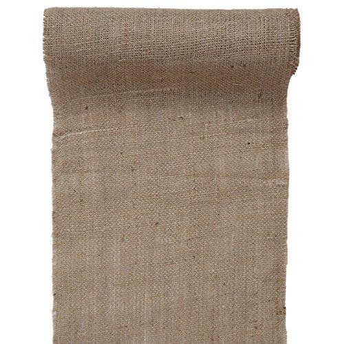 Santex 5276 - Camino de mesa de yute natural, 26 cm x 5 m,