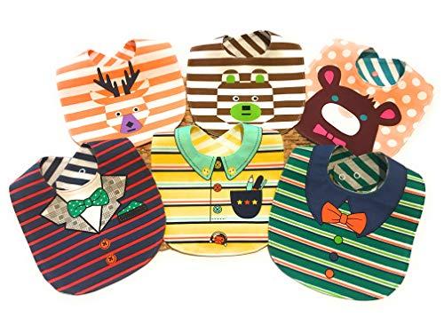 bavaglini neonato , LITTLE DETAIL, regalo neonato set pappa svezzamento bavaglini impermeabili 100% Cotone, Eleganti Divertenti 6 Bavaglini Double Face 12 Fantasie