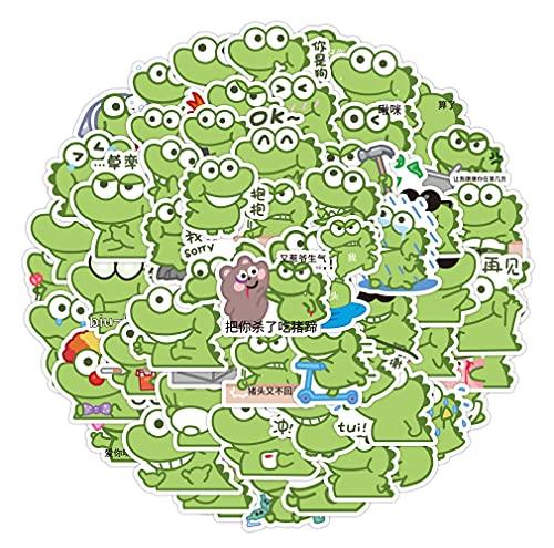 BUCUO Dibujos Animados Lindo cocodrilo Emoticon Bolsa Pegatinas Equipaje Maleta Maleta portátil teléfono Caja Pegatinas 60 Piezas
