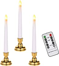 مصابيح نافذة LED للتحكم عن بعد من OSALADI ، 3 قطع شموع وامضة تعمل بالبطارية قابلة للإزالة حامل ذهبي للاحتفال بالمهرجانات ا...