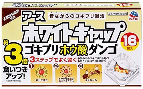 アース製薬 ホワイトキャップ ゴキブリホウ酸ダンゴ 16個