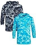 TONY HAWK Boys' Shirt - Lightweight Long Sleeve T-Shirt Hoodie (2 Pack), Size 8, Blue/Black
