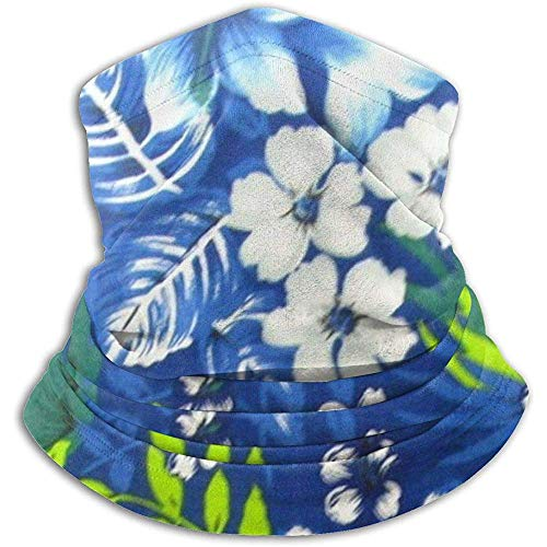 Xian Shiy Hawaiian Royal Blue Neck Gaiter Warmer Máscara a prueba de viento - Mascarilla UV gratis
