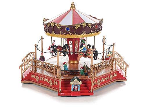 Grupo Maruccia - Carrusel navideño con movimiento de luces y música, caja de música navideña, idea regalo de Navidad