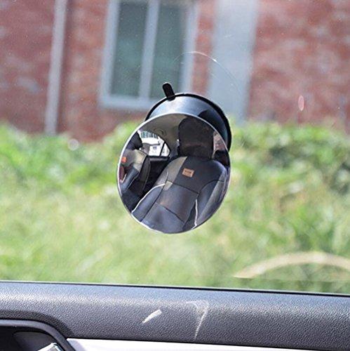 Rétroviseurs extérieurs à l'intérieur de la voiture Rétroviseurs pour enfants Sièges de sécurité Miroirs rétroviseurs pour bébé Miroirs auxiliaires à montants positifs (Couleur : Noir)