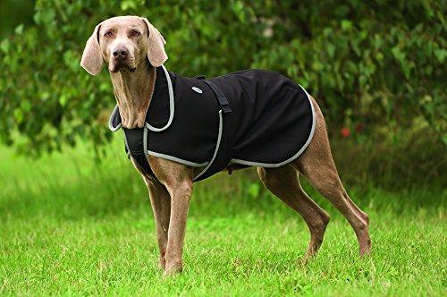 Softshell Hundedecke Equi Theme schwarz 60cm