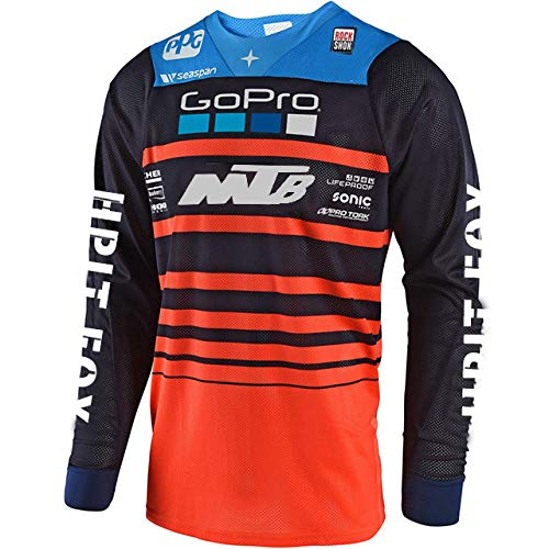 KKQTMY Motorcycle Mountain Bike Team Downhill Jersey Offroad fxr Bicycle Locomotive Shirt Cross Country Mountain Jersey-XL