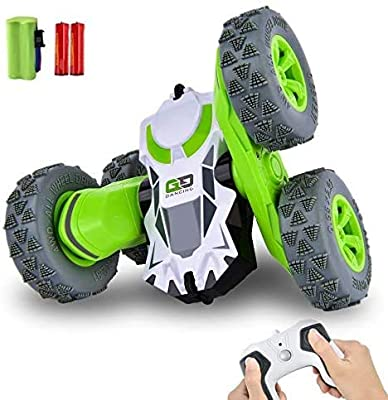 RC Stunt Car , Remote Control Car 360°Flips Double Sided Rotating Vehicles , 2.4GHz 1:28 Super Off-Road Toys Christmas Birthday Gifts for Boys Girls Kids 5 6 7 8 9 10 12 Years Old by Cradream