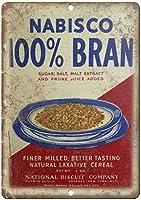 Nabisco Bran Cereal Box ティンサイン ポスター ン サイン プレート ブリキ看板 ホーム バーために