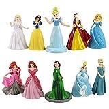 Adornos de juguete 10pcs / set 7cm-9.5cmPrincess Blancanieves sirena Sofia Bella Durmiente Cenicient...