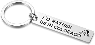 Sponsored Ad - I'd Rather Be in State of Colorado Metal Keychain, Mountain Keyring for Colorado Lover, Colorado Gifts for ...