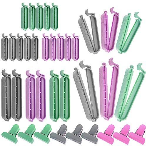 Rayong 36 Stück Verschlussclips Tütenclips 3 Idealen Größen Clips für Tüten, Tüten Verschlussklammern für Tüten Lebensmittel und Snacks Lagerung