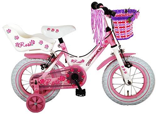 Rose, Bicicleta para niña, Rosa, 12 Pulgadas