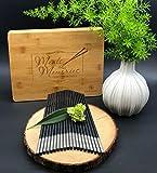 Luxury chopsticks gift set in handmade bamboo box (10 pairs of Silver vine)