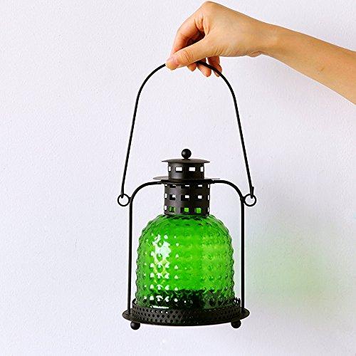 KMYX Romantique Fer Style Marocain Petite Bougie Lanterne Rétro Arts Bougeoir De Noël Bougeoir Lampe Bougeoir Lumière pour la Fête De Mariage ou Festival Décoration (Color : Style J)