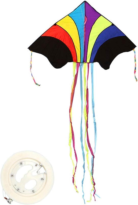 TYD.L Drachen J-078 Brise Leicht Zu Fliegen Langlebig Kind Erwachsener Anfnger Riesig Regenbogen Drachen Verwendet Für Im Freien Park Strand Geschenk 1,35  0,75M Schwanz 2,4M