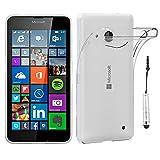 ebestStar - kompatibel mit Microsoft Lumia 640 Hülle 640 LTE Dual Handyhülle[Ultra Dünn], Durchsichtige TPU Schutzhülle, Soft Flex Silikon +Mini Stift, Transparent[Lumia 640: 141.3x72.2x8.8mm 5.0