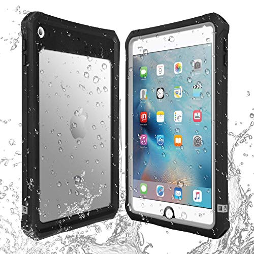IPad Mini 4 Waterproof Case IPad Mini 5 Waterproof Case,AICase High Touch Sensitivity ID IP68 360 Degree Shockproof Protective Cover with Kickstand for IPad Mini 5 IPad Mini 4