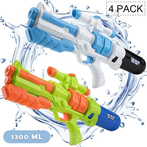 "RF ROOM OF FASHION 1300 ML Water Gun 4 Pack 22"" Water Soaker Blaster Long Range Squirt Gun Swimming Pool Kids Boys Girls Adults, Party Favors Water Outdoor Fighting Toys"