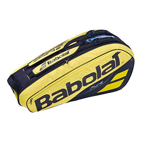 BABOLAT RH X 6 Pure Aero Raquetero, Adultos Unisex, Jaune Noir MYS (Multicolor), Talla Única