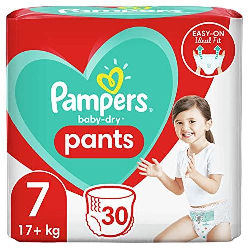 Pampers Baby Dry Nappy Pants - Braguitas para bebé (talla 7, 30 unidades)