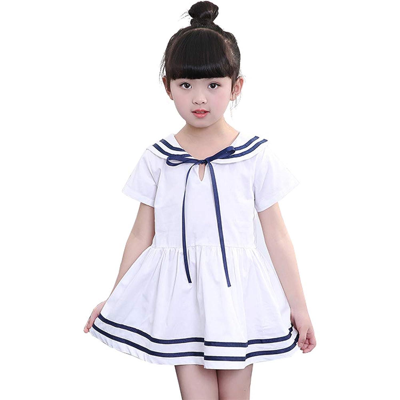 [RADISSY] 女の子 セーラー 海軍風 ワンピース キッズ フォーマル ドレス 半袖