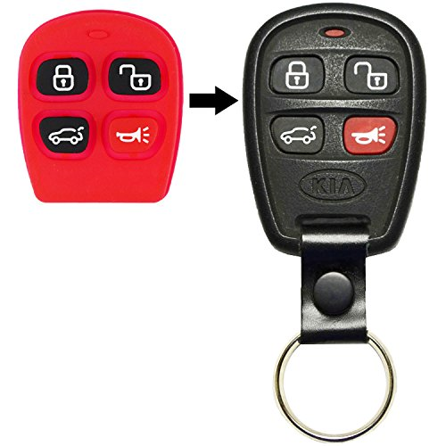QualityKeylessPlus Replacement Case and Pad for Hyundai Kia Keyless Entry Remotes with FREE KEY TAG