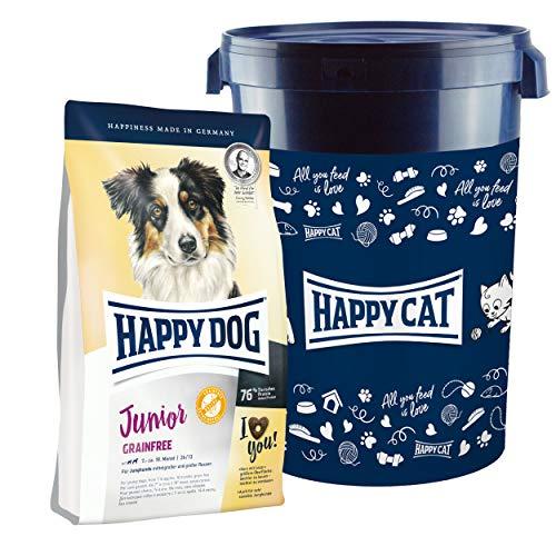 Happy Dog Junior Grainfree 10 kg + 35 Liter Futtertonne inklusive Deckel