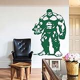 Fuerte superpotencia músculo verde Hollywood Comics película personaje superhéroe vinilo calcomanía habitación de niños dormitorio decoración del hogar arte pared pegatina mural cartel