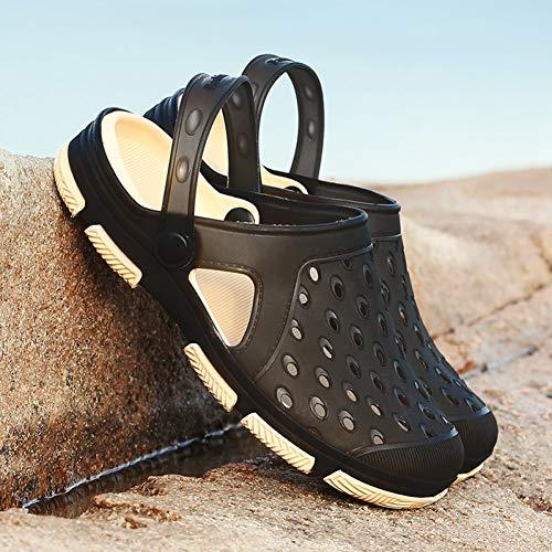 Tanxianlu Zomersandalen voor mannen, strand, waterdicht, ademend, Jelly schoenen, eenkleurig, groen, zwart, blauw
