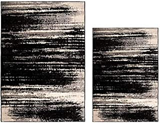 Better Homes & Gardens Shaded Lines 5' x 7' Area Rug, Black Bundle with Better Homes & Gardens Shaded Lines 3'11