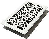 Decor Grates Registro de piso de rolagem FSH612-WH, 15 cm x 30 cm, branco