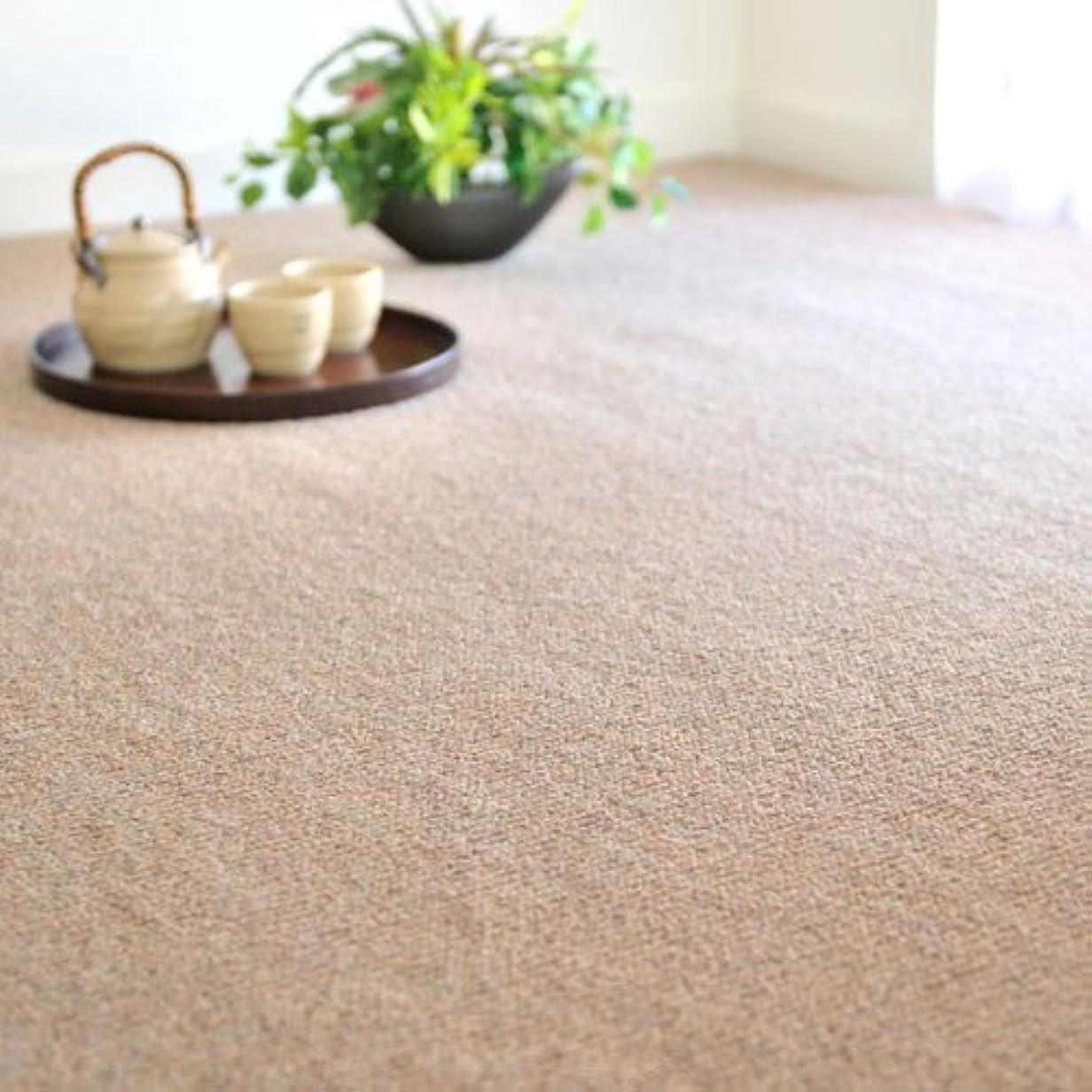 カウンターパート全く侵入するカーペット 6畳 なかね家具 ウール100% 天然素材 防ダニ 抗菌 防炎 6畳(261x352) ブラウン 055gra