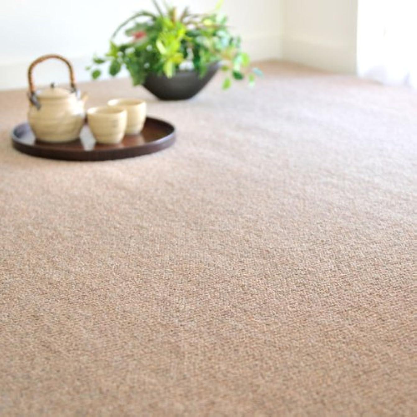 単にプレビスサイト大胆なカーペット 6畳 なかね家具 ウール100% 天然素材 防ダニ 抗菌 防炎 6畳(261x352) ブラウン 055gra
