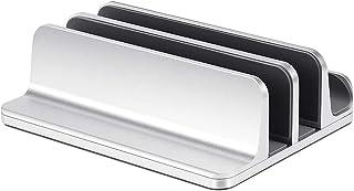 Phonleya Soporte Vertical Doble para computadora portátil - Tamaño Ajustable de 0,7 a 1,6 Pulgadas Soporte de Escritorio d...