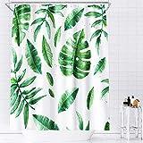 AceList Duschvorhang, Anti-Schimmel Duschvorhang/Bad Vorhang Wasserdichter, Waschbar, Beschwerter Saum mit 12 Duschvorhangringen(180 x 180 cm)