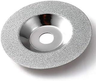 DZF697 1pc 100 mm de Diamant d'or Titane Meule de Polissage Pads Disque Grinder Cup Meuleuses Outil Rotatif Grind Stone Verre