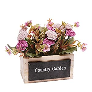 Silk Flower Arrangements Rawlins Artificial Potted Plants, Small Lilac Artificial Flower Potted Plants, Home Table Decoration, Living Room Mini Ornaments, Indoor Decorations, Decorative Ornaments for Weddings and Weddings (D)