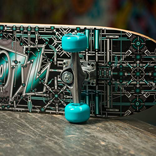 Xootz Kids Industrial Complete Beginners Double Kick Trick Skateboard Maple Deck - Industrial, 31 x 8 Inches