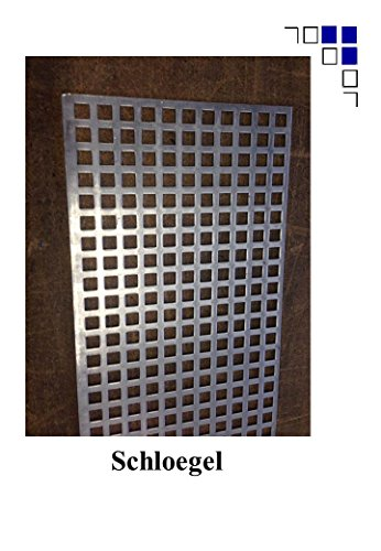 Fenstergitter aus Aluminium Lochblech 2mm Qg10-15 (750x1000mm)