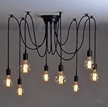 Vintage Industrial Hanging Chandelier Edison Base E27 Light Spider Ceiling Pendant Lighting Spider Chandelier Pendant Ligh...
