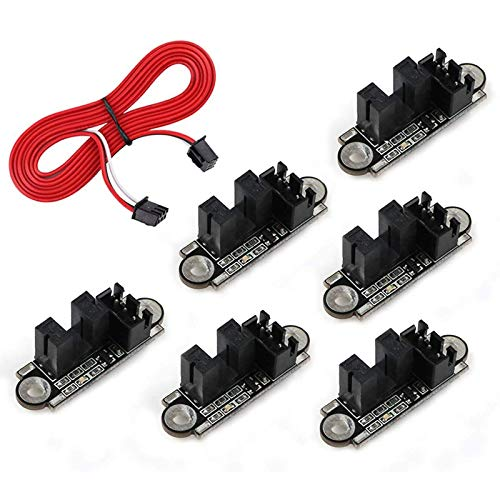 Mifive Set di 6 Pezzi Accessori per Stampanti 3D Interruttore di Finecorsa Fotoelettrico Sensore Interruttore Ottico di Fine Corsa con Cavo 1M