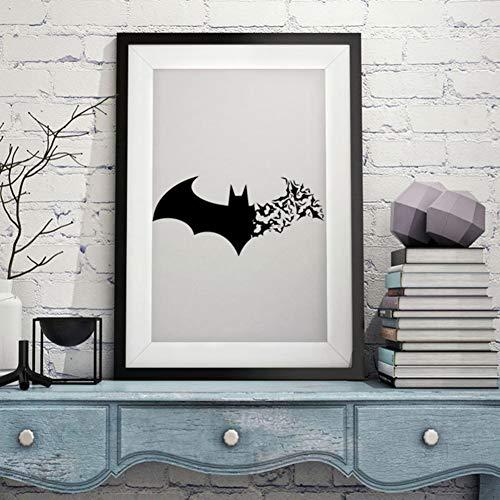SS Sticker Mural Halloween Stickers muraux de la série Batman Stickers muraux sculptés de la génération créative Imperméable