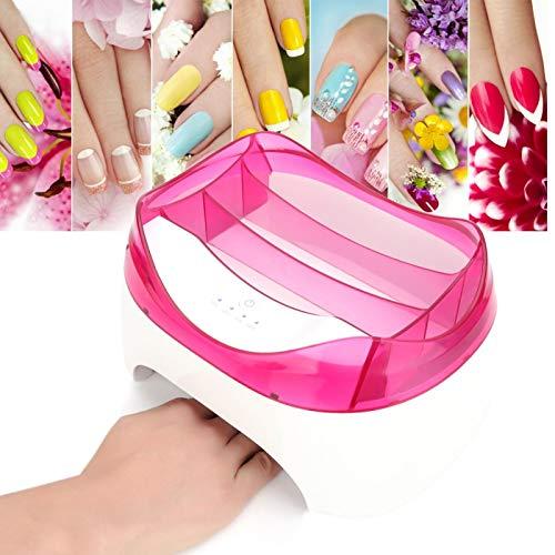 Secador de uñas profesional estable UV LED Secador de lámpara de uñas para salón para(rose Red, European regulations)