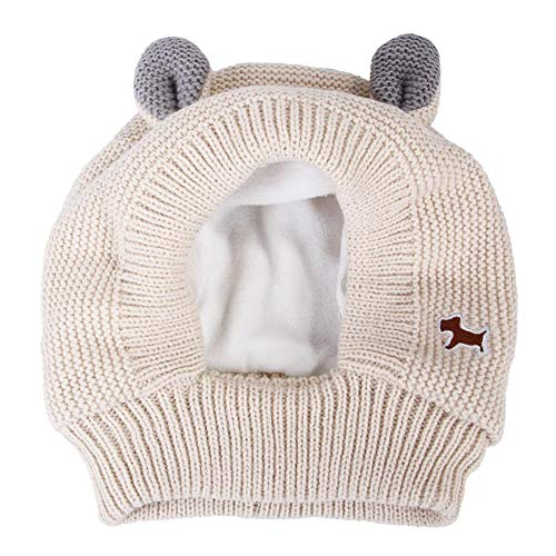 Hualieli Weihnachts Hundemütze, Kaninchenohren Haustier Strickmütze, Wärmerer Stirnbandschutz, Winter Polyester Strickmütze Für Mittelgroße Hunde Und Menschen
