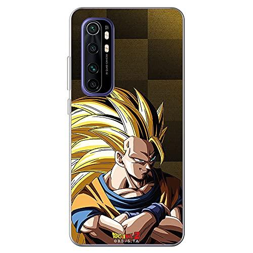 Movilshop Funda para [ Xiaomi Mi Note 10 Lite ] Dragon Ball Oficial [Goku Super Saiyan Nivel 3 Fondo Dorado] Toei Animation de Silicona Flexible Transparente Carcasa Case Cover Gel para Smartphone.