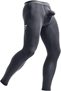 Pantalon compression thermique homme sport collants course vélo taille M noir