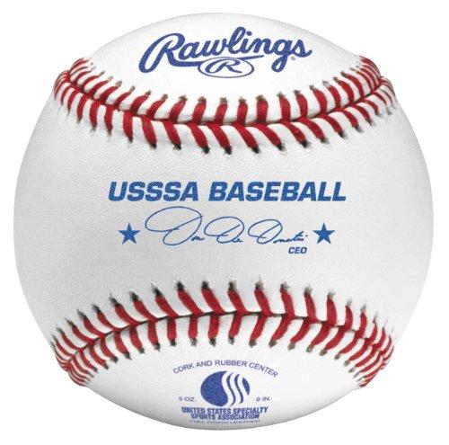 Rawlings Raised Seam Baseballs, USSSA Competition Grade Baseballs, Box of 12, ROLB1USSSA