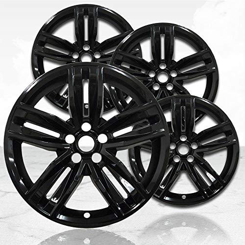 "Upgrade Your Auto 20"" 4pc Gloss Black Wheel Skins (Set of 4) for 2016-2018 Chevy Camaro -  UpgradeYourAuto, QSK0551"